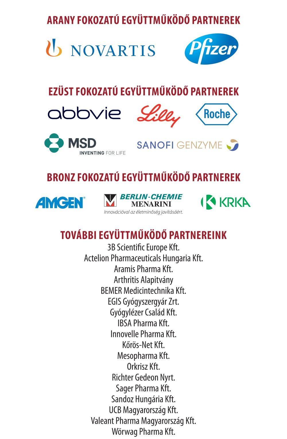 MRE Vándorgyűlés 2018 támogató partnerek